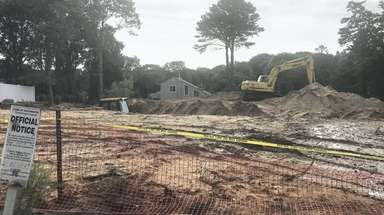 Skeletal remains were discovered at this construction site