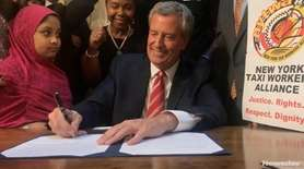 Mayor Bill de Blasio signed legislation Tuesday, Aug.