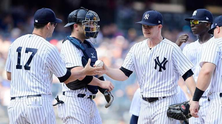 Sonny Gray is taken out of the game