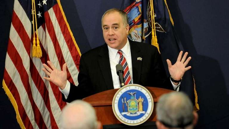 New York State Comptroller Tom DiNapoli says he
