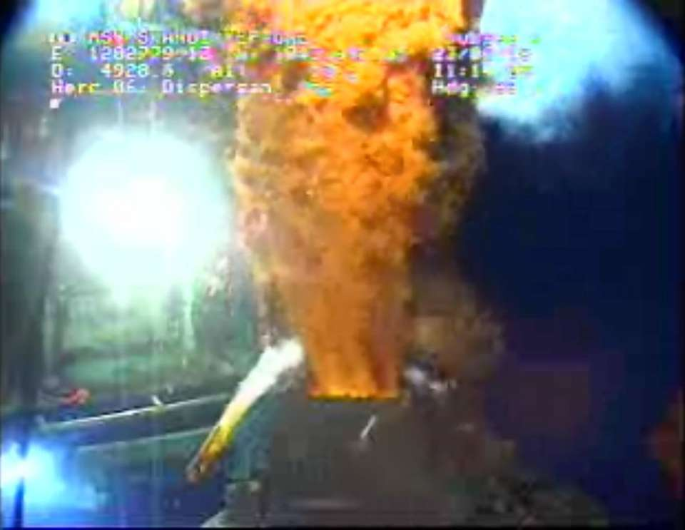 This image from video provided by BP PLC