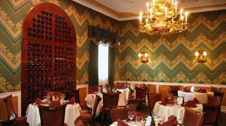 The warm and generous main dining room at