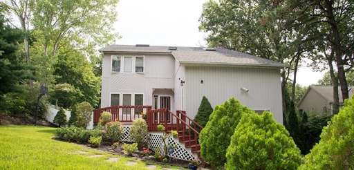 A home for sale in Smithtown, seen on