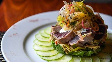 Nori tuna served at Black & Blue Seafood