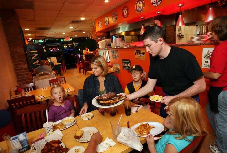 At Tennessee Jed's in Wantagh, Kevin Schneider serves