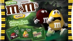 The treat is the chocolate or peanut M&M'S,