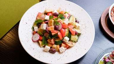 Fattoush bread salad at Rothchilds Coffee & Kitchen