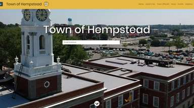 The Town of Hempstead rolled out a website