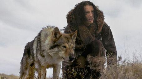 Alpha (Chuck, the wolf-dog) is man's, er, boy's
