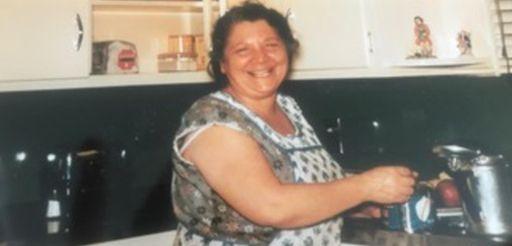 Jane Lohmann's grandmother, Nancy Matera, is shown in