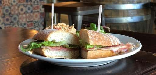 Montaditos (snack-sized sandwiches) are among the dishes served