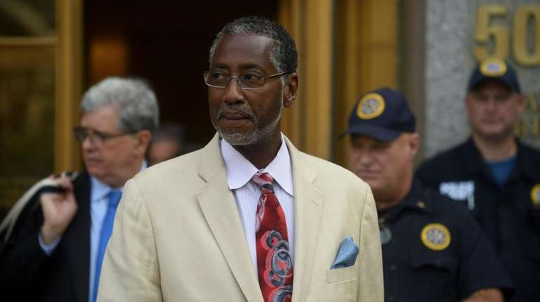 Norman Seabrook leaves a federal courthouse in Manhattan