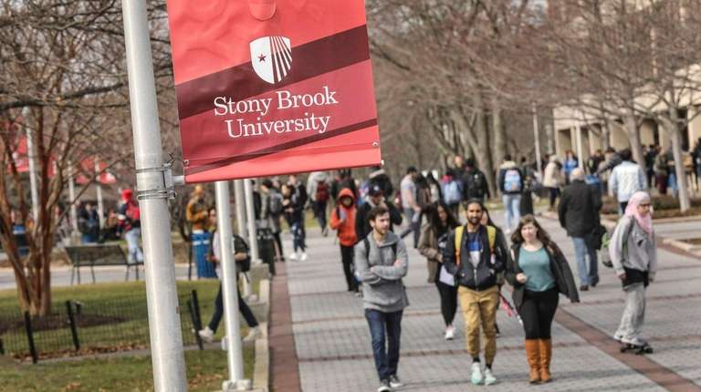 The Stony Brook University campus on March 1.