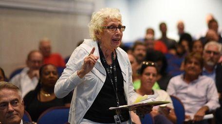 Barbara Levitz of Island Park addresses American Water