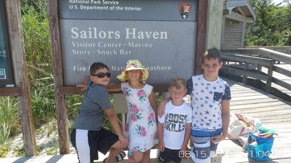 Having a fun day at Sailor's Haven Beach,