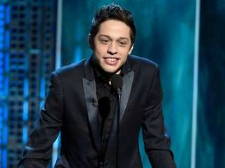 Pete Davidson speaks at a Comedy Central