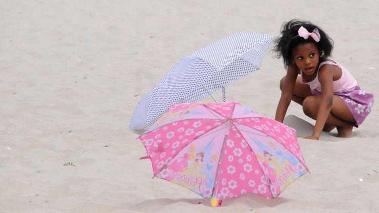 Soraya Omeir, 6, is seen at Jones Beach