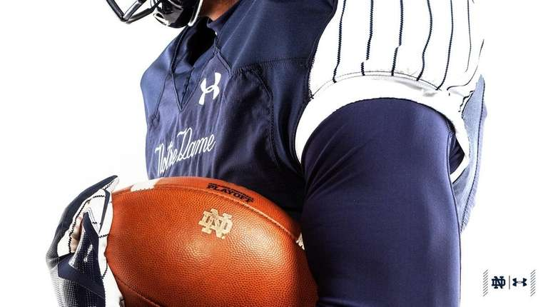 A look at the Yankee-inspired uniforms Notre Dame