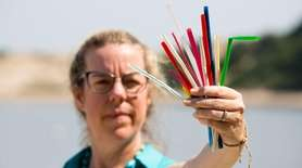 Plastic straws are not recyclable, and some people