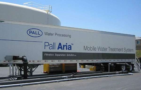 Pall's mobile water filtration equipment.
