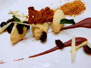 Deconstructed cheesecake  is a dessert at Mosaic