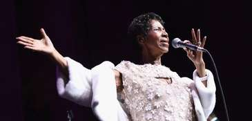 Aretha Franklin performs in November for the Elton