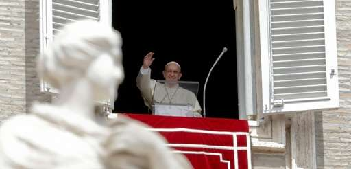 Pope Francis blesses the crowd on Wednesday during