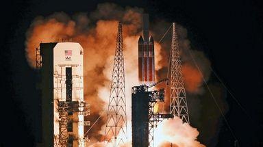 A Delta IV rocket, carrying the Parker Solar