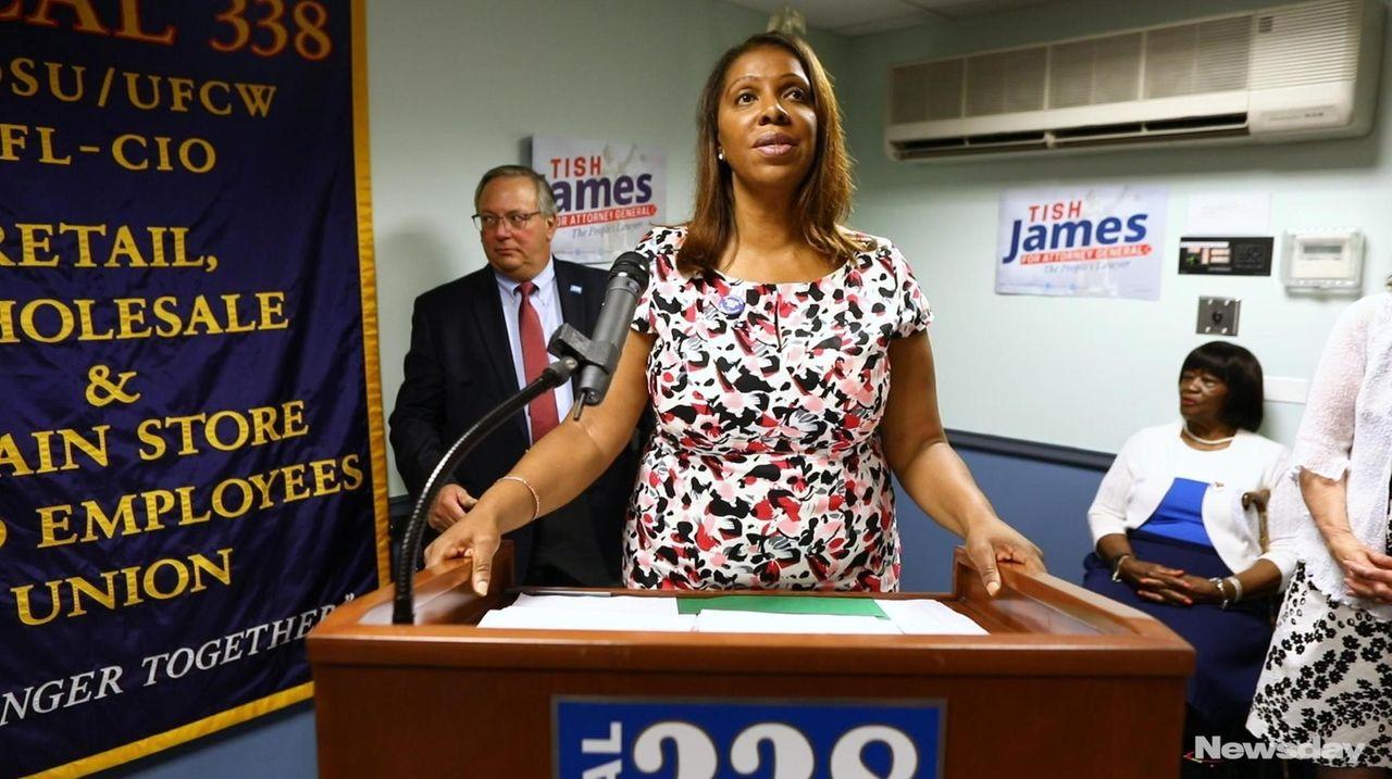 New York City Public Advocate Letitia James, a