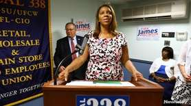New York City Public Advocate Letitia James, a