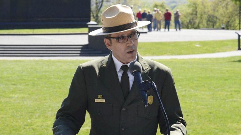 Alexcy Romero, the new superintendent of Fire Island