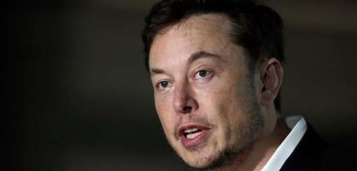 Electric carmaker Elon Musk at a news conference