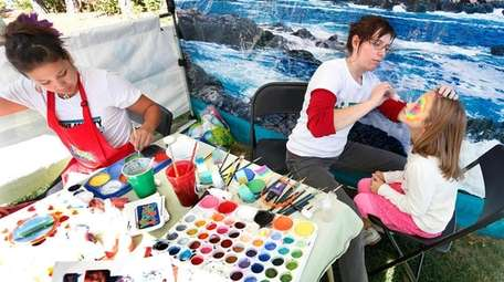 Face painting is among the activities at the