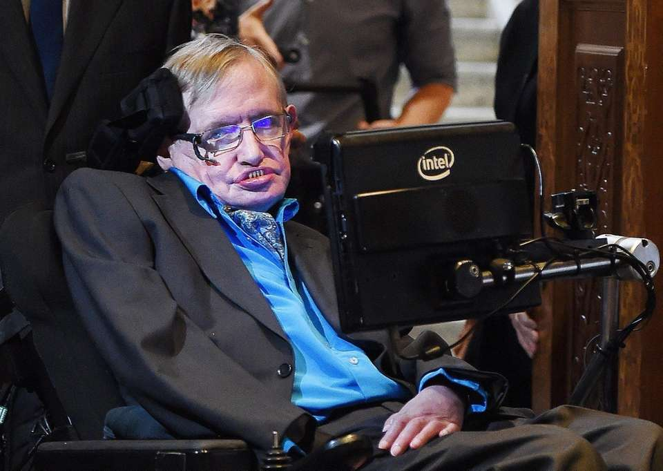 epa04854135 British scientist Stephen Hawking arrives for a