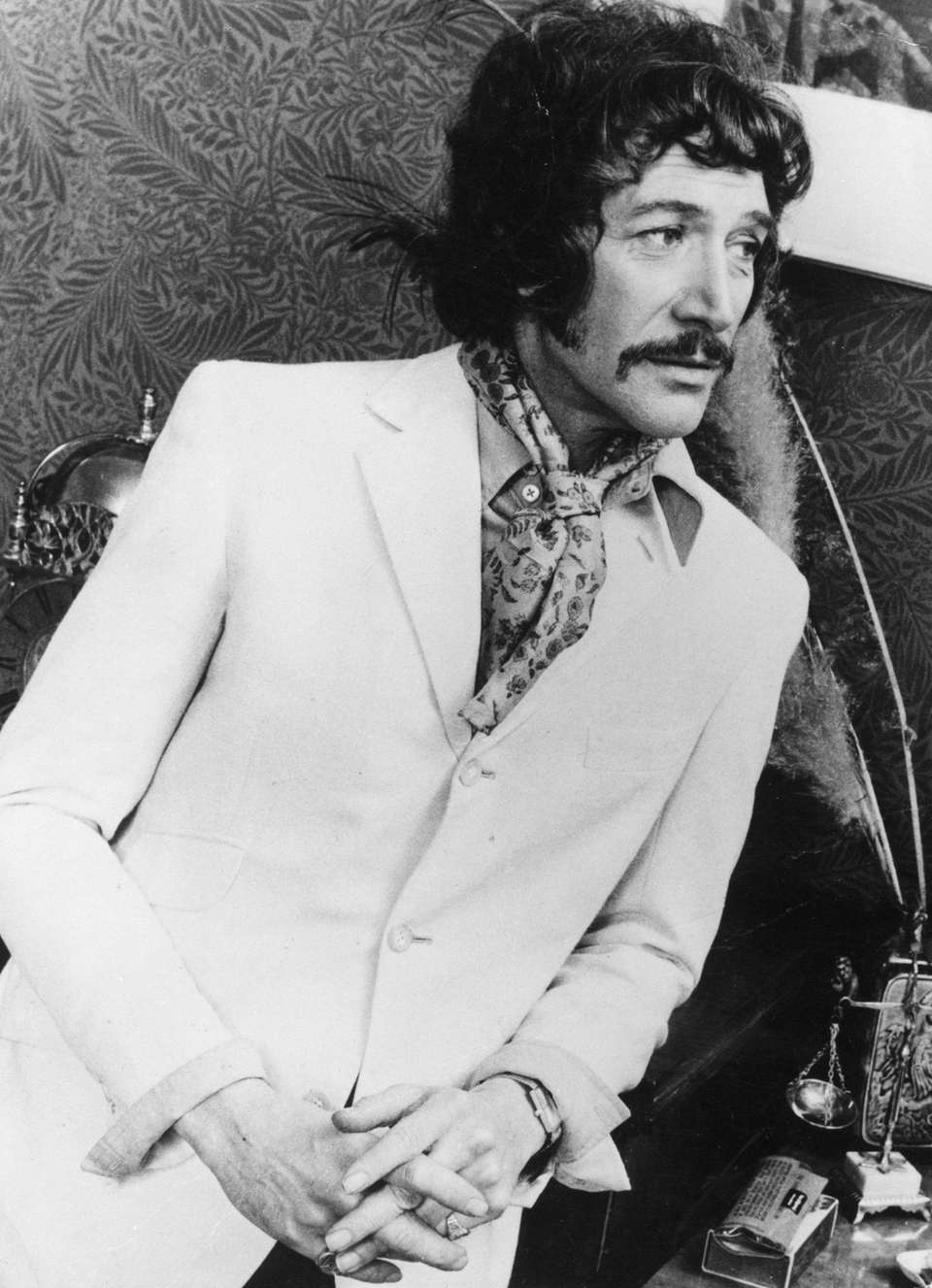 British actor Peter Wyngarde. (Photo by Keystone/Getty Images)