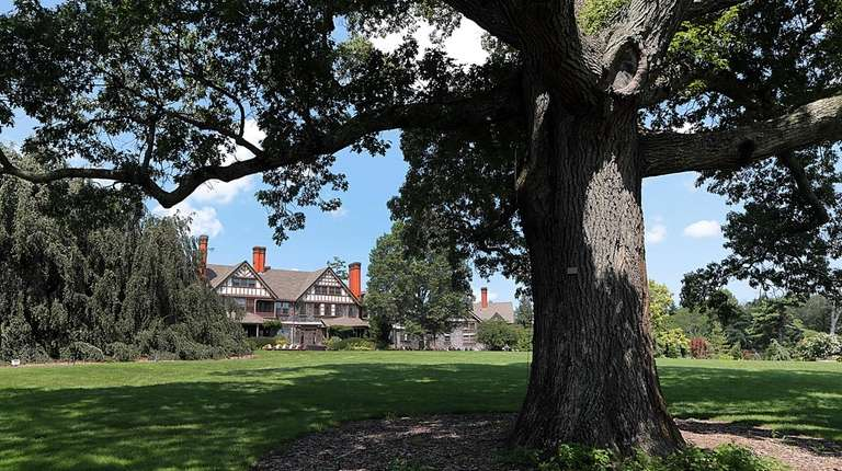 The mansion at the Bayard Cutting Arboretum in