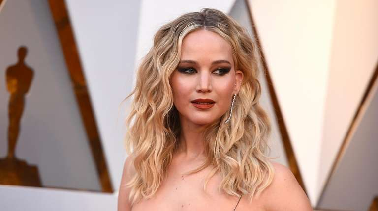 Jennifer Lawrence at the Oscars in Los Angeles