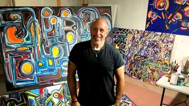 Longtime concert lighting director Steve Cohen says painting