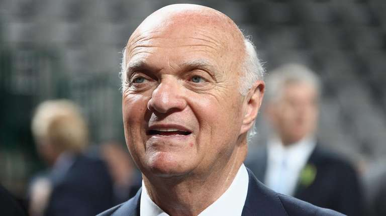 Lou Lamoriello of the New York Islanders attends