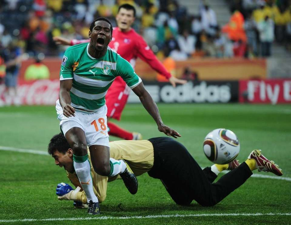 Abdul Kader Keita of the Ivory Coast is