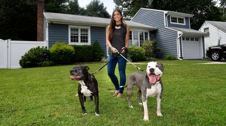 Kacie Martinez and dogs Sonya and Kano in