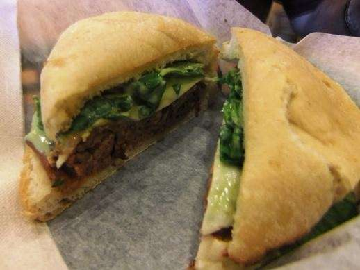 Wasabi roast beef sandwich at Tropical Smoothie Cafe.