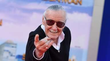 Stan Lee at the 2017 Los Angeles premiere