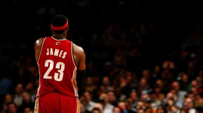 FILE - LeBron James at Madison Square Garden.