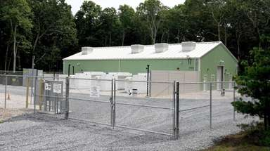 The 5-megawatt battery storage unit, at a substation