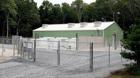 The 5-megawatt battery storage unit, at a substation