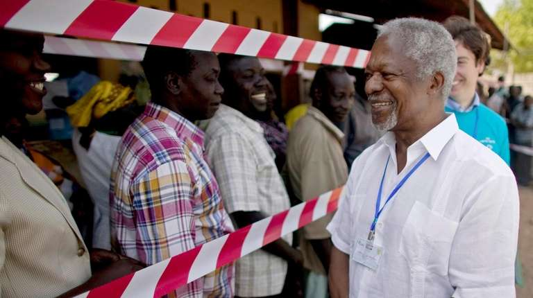 Former United Nations Secretary-General Kofi Annan, visits a
