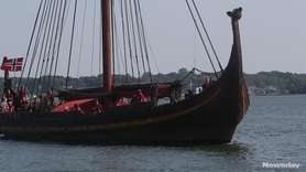 The Draken Harald Hårfagre arrived in Greenport on Wednesday.