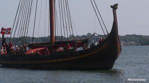 TheDraken Harald Hårfagre arrived in Greenport on Wednesday.