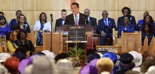 Gov. Andrew M. Cuomo addresses the congregation at